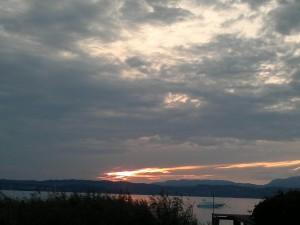 Zonsondergang tijdens 12K project