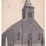 Kerk en oorlogsmonument oorspronkelijke locatie